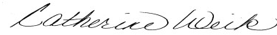 Cathy Weik Signature