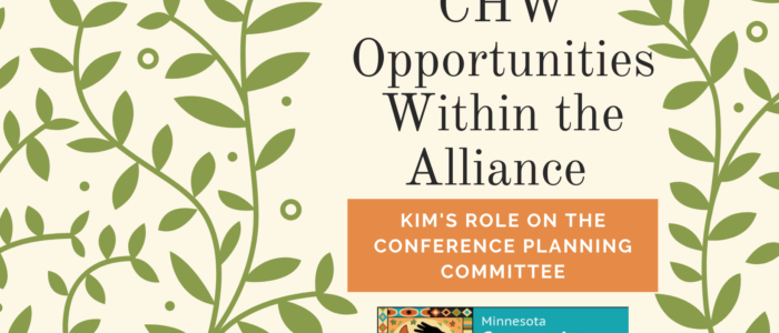 Kim's role on the conference planning committee