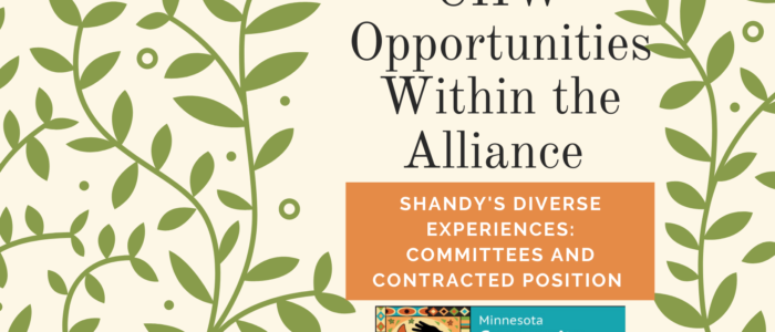 Opportunities with the Alliance: committee and contract