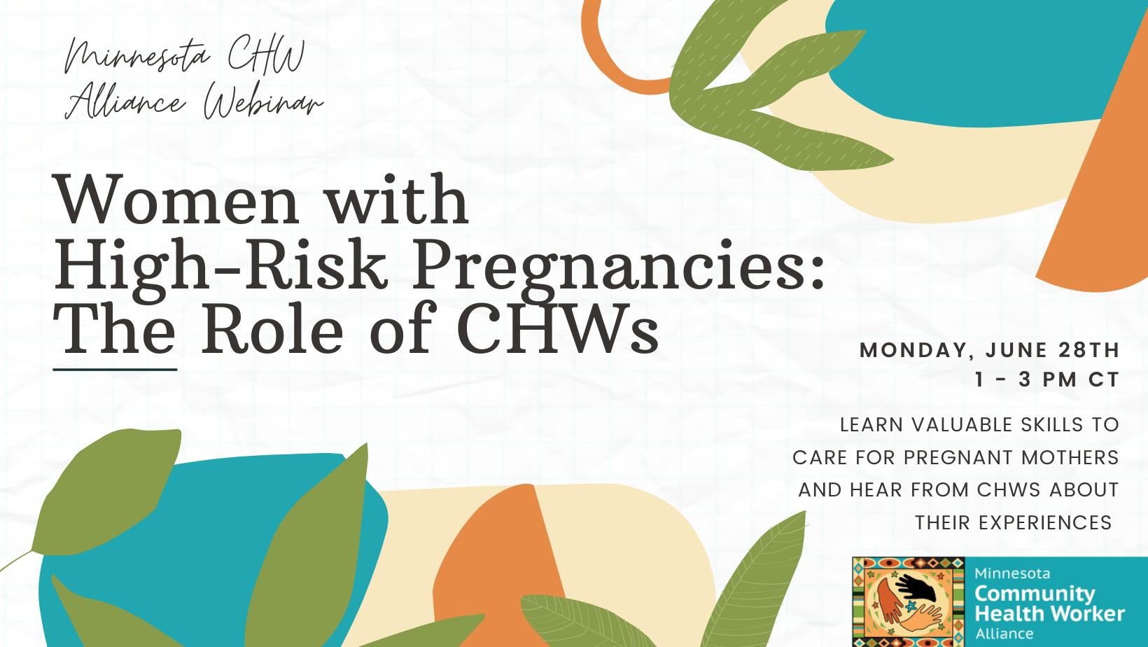 June 28th DHS Webinar on High Risk Pregnancies
